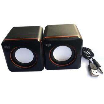 Xtyle Mini USB Active Loud Portable Speaker Box for Desktop Laptop PC (Black)