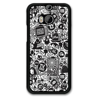 Y&M Abstract Black Pattern Phone Case HTC M8 (Multicolor) Price Philippines