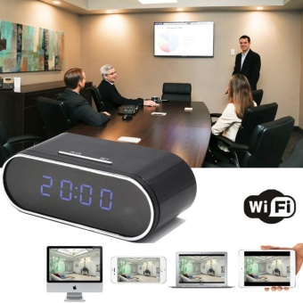 Yika WIFI 1080P HD SPY Hidden Clock Camera IR Night Vision Motion Detection Video Cam - intl