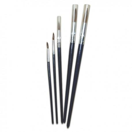 Image of Sterling Arts Water Color Round Brushes Size 4