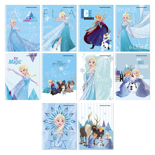 Image of Orions Disney Frozen Composition Notebook Set of 10