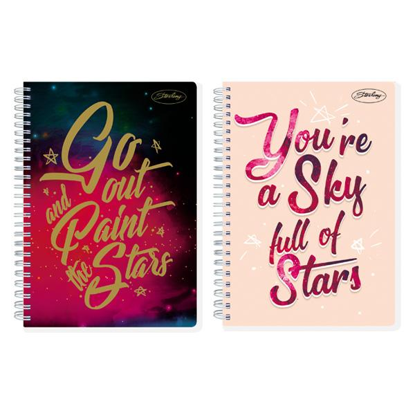 Image of Sterling Across the Universe Double Cover Wire Notebook Design 2