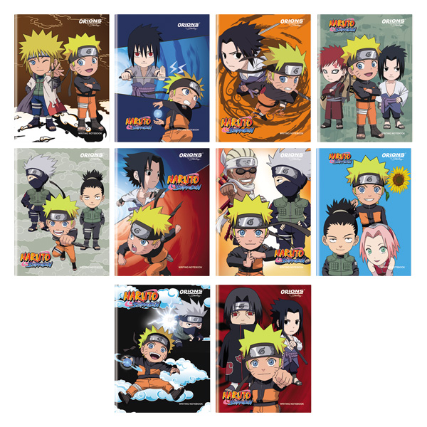 Image of Orions Naruto Shippuden Writing Notebook Set of 10
