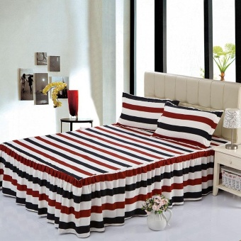 1 Piece Soft Bed Skirt Bedspreads Mattress Protective Cover AntiSlip Bed Skirt Fitted Bed and Bedspread Linen Skirts Bed Sheet HomeHotel Decor 150X200CM - intl