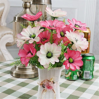 Discount slim high grade ceramic vase flower tabletop vase 1 set vase silk flowers artificial flower set home flowers decoration artificial wedding party decor mightylinksfo