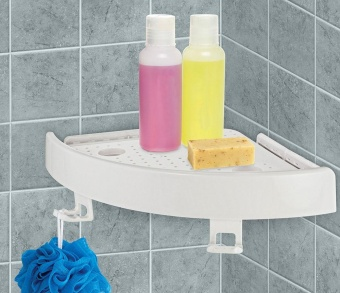 1 x Quick Fix Corner Easy Shelf Grip Up to 4kg Easy wall Bathroom -intl