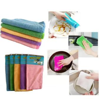 10 Pcs. Assorted Color Multi-Purpose Micro Fiber Cleaning TowelWashing Cloth For Car Cleaning Household 29 x 31 cm
