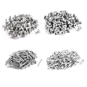 100pcs 304HC Stainless Steel Hex Countersunk Flat Head Bolts Screws M3x12mm - intl