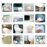 100pcs White Multi-functional Magic Sponge Eraser Cleaner 100 x 60 x 15mm - intl ...