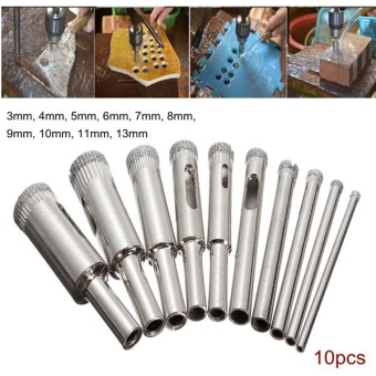 ... HSS Titanium Dremel Routing Rotary Milling Rotary File Cutter Woo ... Source · 10pc 100 Grit Diamond Core Hole Saw Set 3/32-7/16 Drill