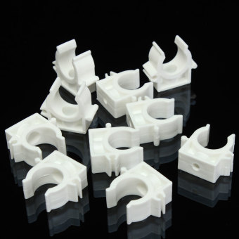 10x White Plastic PPR Heat Fusion Plumbing Pipe Tube Clips Clamps Holder Mount 25mm - Intl