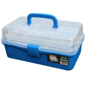 12.5 inch Blue color transparent box PP tool cabinet box caja deherramientas portable fittings box household storage - INTL Price Philippines