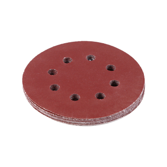 125mm Buffing Pads Red Sanding Discs 8 Hole Grit Sand Papers(150#)- intl