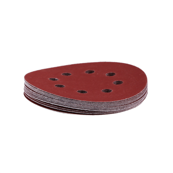 125mm Round Shape Red Buffing Polishing Discs 8 Hole Grit Sand Papers(1000#) - intl
