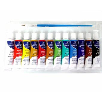 12ml 12pcs Watercolours with Brush Bright Colors High Quality