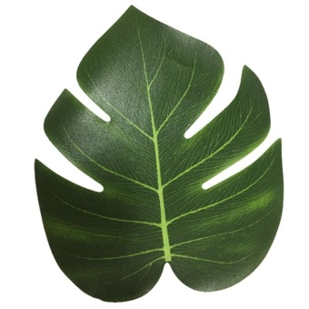 12Pcs 8'' Imitation Plant Leaves Hawaiian Luau Party Jungle BeachTheme Decorations for Birthdays Prom Events (green) - intl