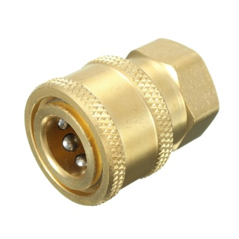 1/4'' Quick Release Pressure Washer Hose Adaptor Connector Plug To BSP1/4 Female - intl