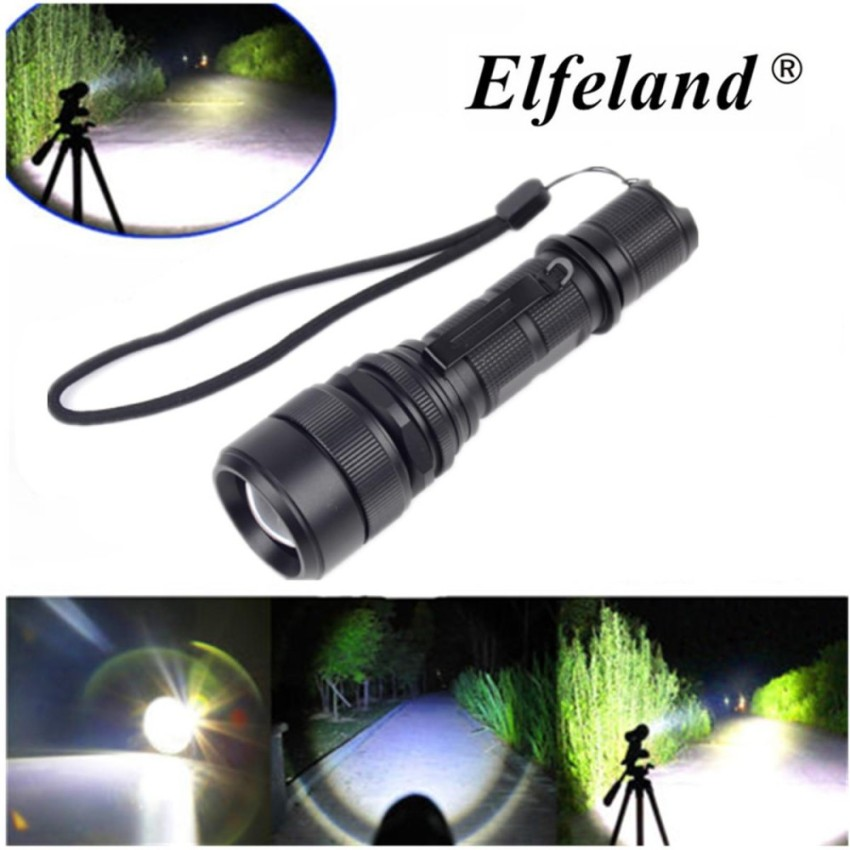 15000Lm Elfeland LED Zoomable 5 modes USB Tactical 18650 Flashlight Torch Light - intl