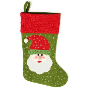 "18"" Personalised Classic Christmas Stockings Sock Santa Clause Snowman Gift Gag (Santa Claus) - intl Price Philippines"