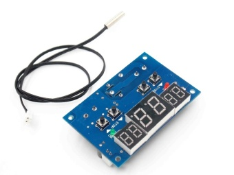 1pcs DC12V thermostat Intelligent digital thermostat temperature controller With NTC sensor W1401 led display - intl