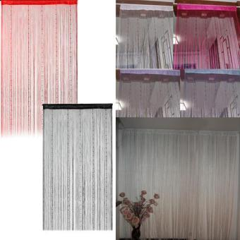 1x2m Fringe Beads Chain Door Curtain String Drape - intl Price Philippines