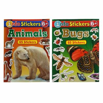 2 Pack Large Coloring Sticker Books