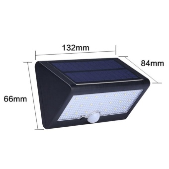 20 LED Solar Light PIR Motion Sensor Solar Powered Wall LightOutdoor LED Garden Light Waterproof IP65 Emergency Lamp - intl