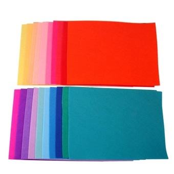 20 PCS Assorted Color DIY Craft Felt Nonwoven Fabric Sheet Square1mm Thickness A4 Size 7.9 x 11inch Random Color - intl