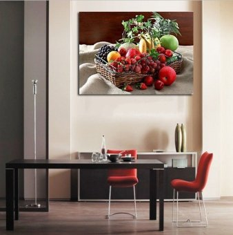 2016 Fruit baskets modern Chinese style painting murals decorative painting frame painting the living room sofa canvas painting (No frame)