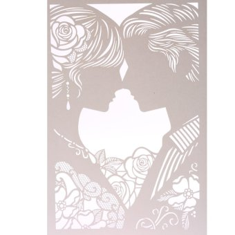 20Pcs Romantic Delicate Wedding Party Invitation Card DelicateCarved Pattern Banquet Decoration