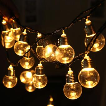 220V 20 LED Light Bulb Ball String Fairy Lights For Bedroom Xmas Wedding Party - intl