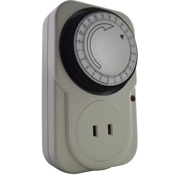 24 Hours Mechanical Electrical Plug Program Timer Power SwitchEnergy Saver