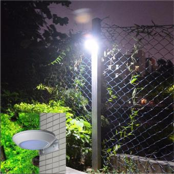 260LM Microwave Radar Motion Sensor LED Solar Light Waterproof 16LEDs Street Lamp Outdoor Path Wall Lamp Security Spot Lighting - intl