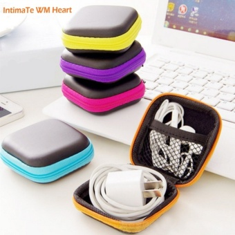 2Pc Storage Bag Case For Earphone EVA Headphone Case Container Cable Earbuds Storage Box Pouch Bag Holder - intl