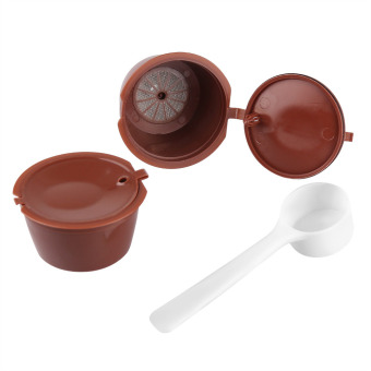 2pcs Refillable Dolce Gusto Capsules Reusable Coffee Capsules Compatible with Nescafe Genio, Piccolo, Esperta and Circolo - intl