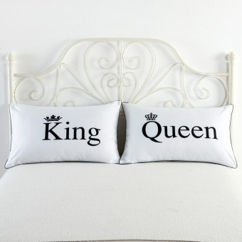 2pcs/lot Washable Pillowcases Decorative Body Pillow Case Plain Design Home Hotel Bedding Pillow Cases Romantic White Pillow Cover Gifts - intl