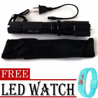 3 in 1 Self Defense Stun Gun with Multifunction dimming lightflashlight 288 (Black)with FREE LED Watch (color may vary) Price Philippines