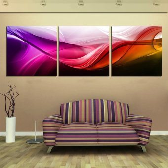3 Panels Hot Sell Modern Wall Painting Red silk Flower DecorativeArt Picture Paint on Canvas Prints (No frame)