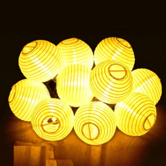 30 LED Lantern Solar Powered String Indoor or Outdoor Lights - intl