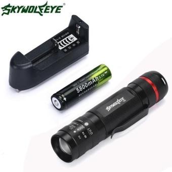 3000Lm CREE XM-L T6 LED 18650 Flashlight 5 Mode Torch Tactical Light Lamp -