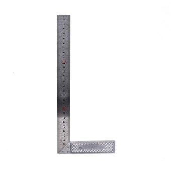 30cm Stainless Steel Right Measuring Rule Tool Angle Square Ruler -intl