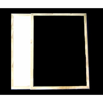 30cmx40cm Blackboard and White Board Wooden Frame Back to BackBoard