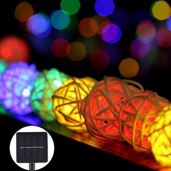 30LED 20ft Solar Powered Waterproof String Fairy Lights (ColorfulLight) - intl