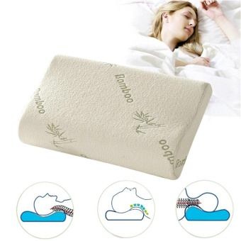 30x50 Sleep Bamboo Fiber Slow Rebound Memory Foam Pillow CervicalHealth Care Head Neck Support - intl