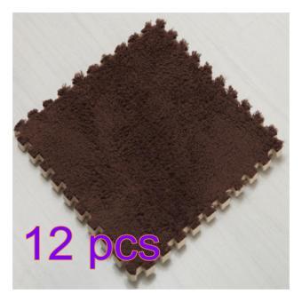 360DSC 12pcs Baby Soft Playmats Foam Floor Plush Carpet Puzzles Children Exercise Gym Mat - intl