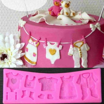 3D Silicone Fondant Mould Cake Decorating Chocolate Baking Mold Tool - intl