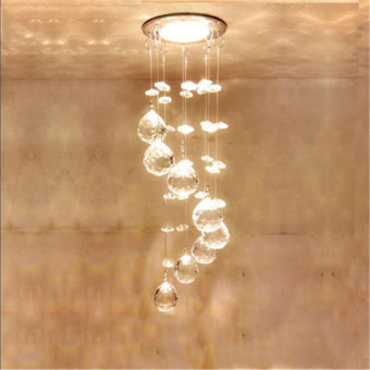 3W LED Crystal Ceiling Light Small Chandelier Ceiling Lamp Pendant Light Hallway - intl