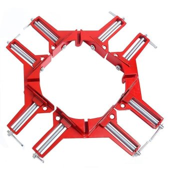 4 Pieces 90 Degrees Right Angle Corner Clamp Fish tank Picture Holder Woodworking Holder Clamps - intl