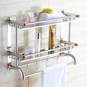 40cm*16cm*46cm,Bathroom Shelves, Two Layer Towel Holders Bath,towel