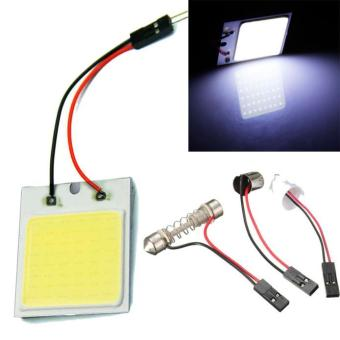 48 led SMD COB LED Car Panel light Interior Room Dome Car Light Bulb Lamp - intl Price Philippines